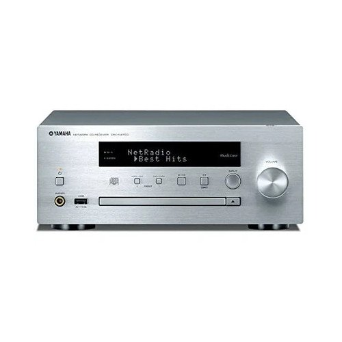 Yamaha CRXN470D Networked CD Receiver with DAB/FM radio and MusicCast Silver