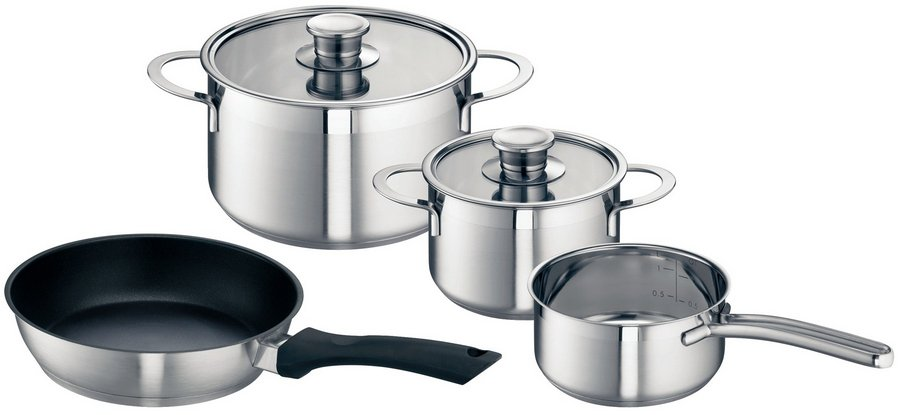 Image of Neff Z9442X0 Set of 3 Pots and 1 Pan for Induction Hobs