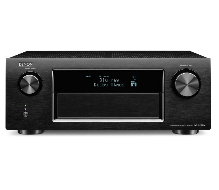 Denon AVRX4100W 7.2CH Network Receiver With Bluetooth Airplay Spotify And 4K In Black