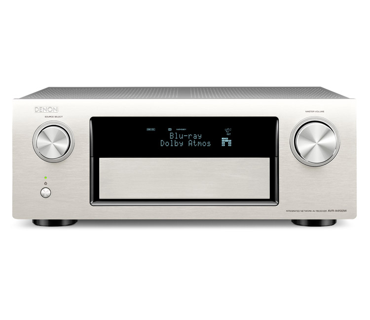 Denon AVRX4100W 7.2CH Network Receiver With Bluetooth Airplay Spotify And 4K In Silver