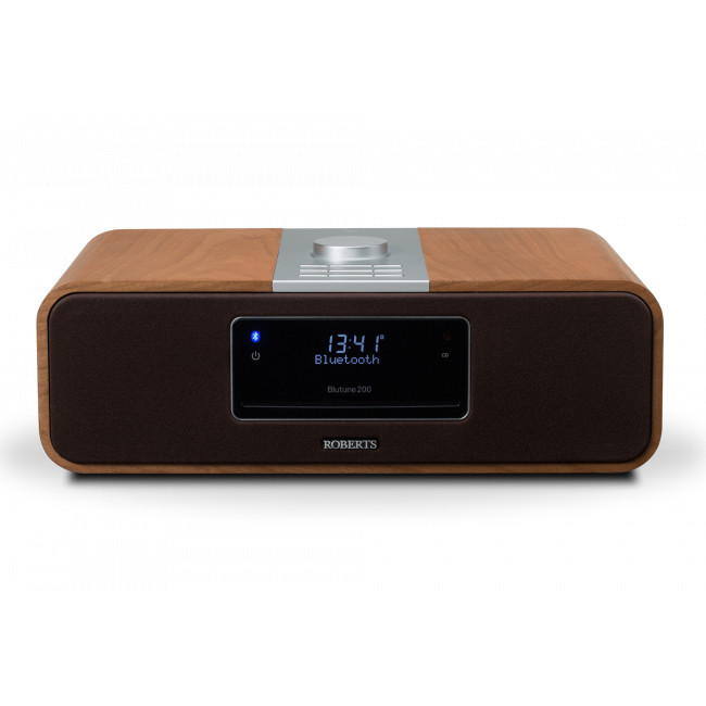 Roberts Blutune 200 DAB/FM/CD Sound System Bluetooth Radio Cherry Wood - Front