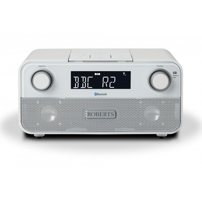Image of Roberts BLUTUNE 50 Bluetooth Clock Radio in White