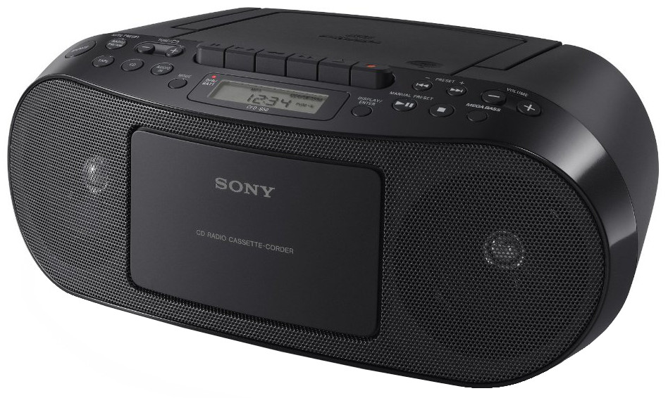Sony CFDS50B Compact CD and Cassette Player with FMAM Radio