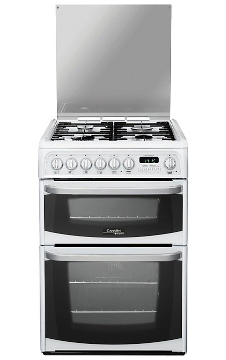 Hotpoint Cannon CH60DHWFS 60cm Dual Fuel Cooker White