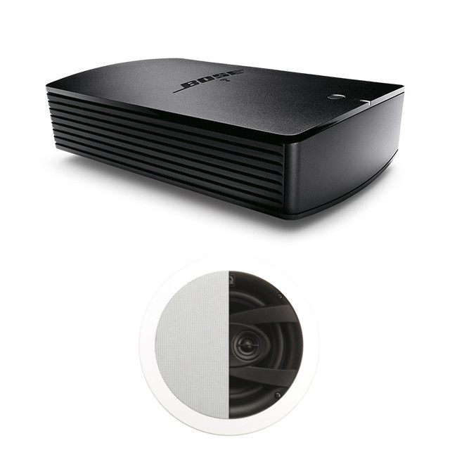 Image of Bose SoundTouch SA-5 Amplifier with Q Acoustics Q Install QI65CW Weatherproof Stereo Speaker Pair
