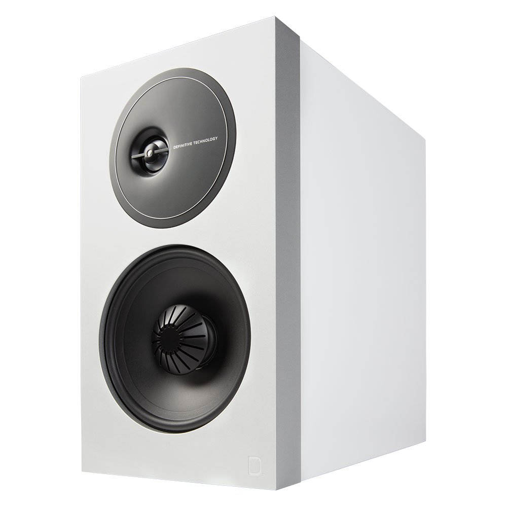 Definitive Technology Demand Series D11 High-Performance Bookshelf Speakers Pair in White