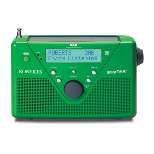 Roberts radio SolarDAB 2 DABFM RDS digital solar radio in Green