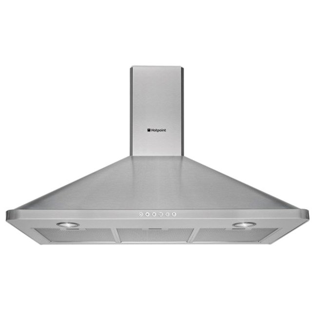 Hotpoint HHP95CM 90cm Built In Cooker Chimeny Hood in Stainless Steel