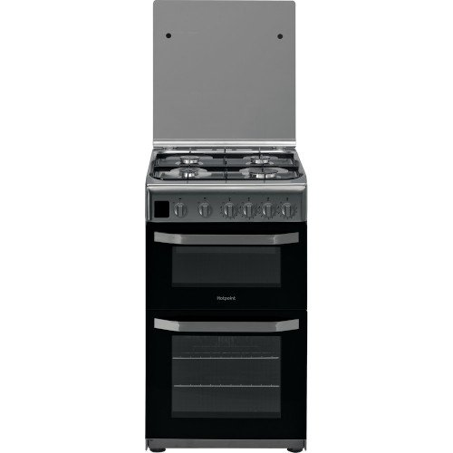 Hotpoint HD5G00CCX 50cm Double Oven Gas Cooker Stainless Steel