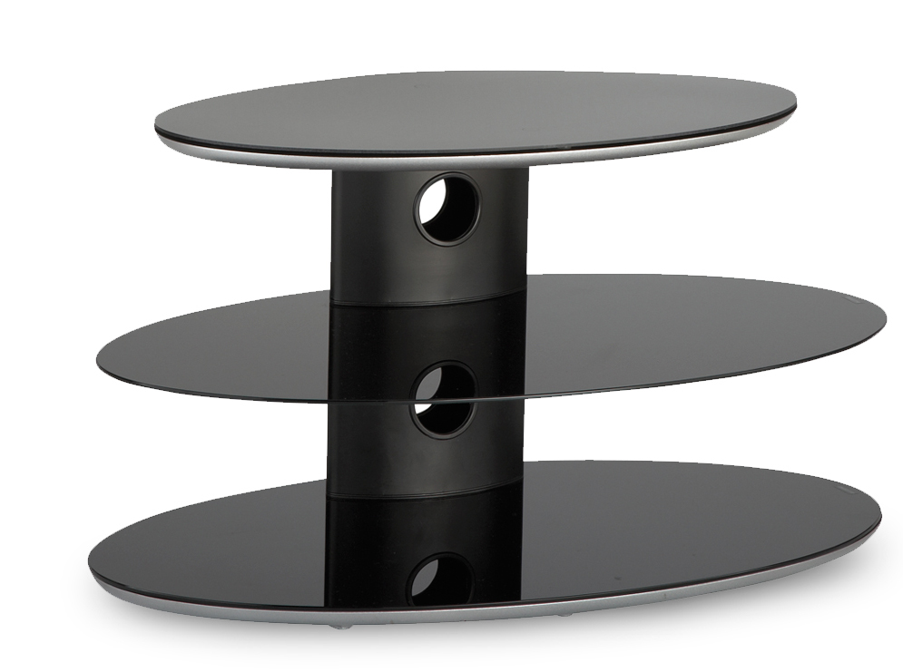 Stockists of Alphason Gradino GRA3800-TB TV stand in black for TVs up to 37 Inch