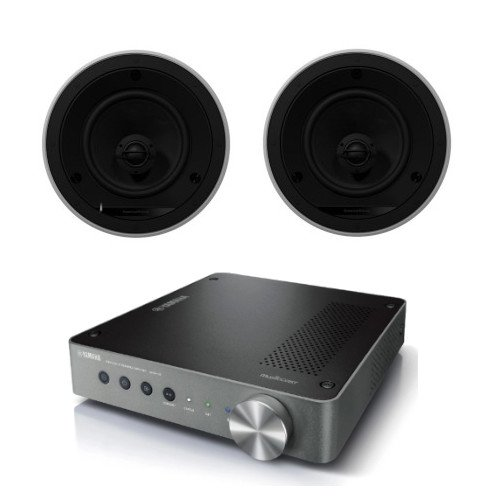 Yamaha WXA-50 Wireless Streaming Amplifier With Bowers & Wilkins CCM665 Ceiling Speakers Pair