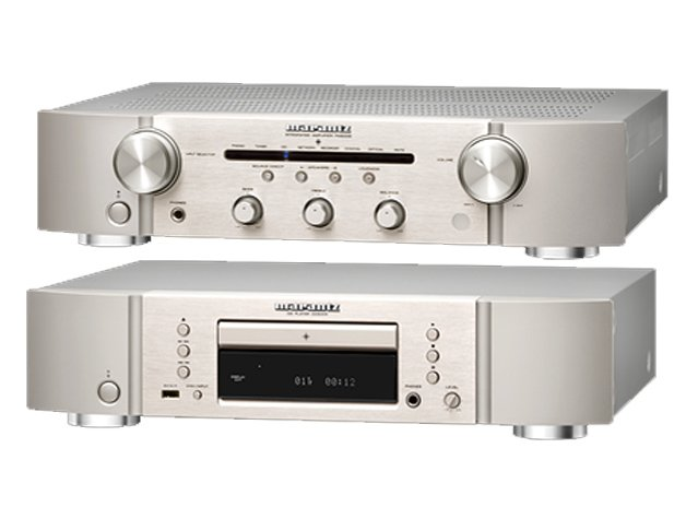 Marantz CD6005 CD Player with PM6005 Amplifier in Silver Package