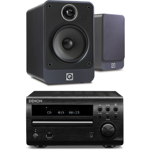 Denon DM39DAB Micro HiFi System with Q Acoustics 2010i Speakers in Graphite