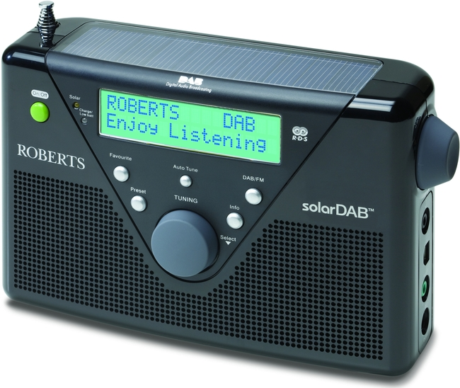 CLEARANCE - Roberts SOLARDAB2 Digital Solar Powered Radio in Black