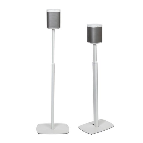 Image of Flexson FLXP1AS2011 Adjustable Floor Stands For Sonos PLAY:1 In White (Pair)