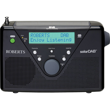 Roberts radio SolarDAB 2 DABFM RDS digital solar radio in Black