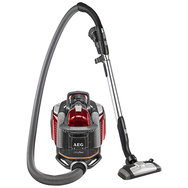 AEG UFPARKETTA UltraFlex Red All Floor Bagless Cylinder Vacuum Cleaner with Cyclonic Technology