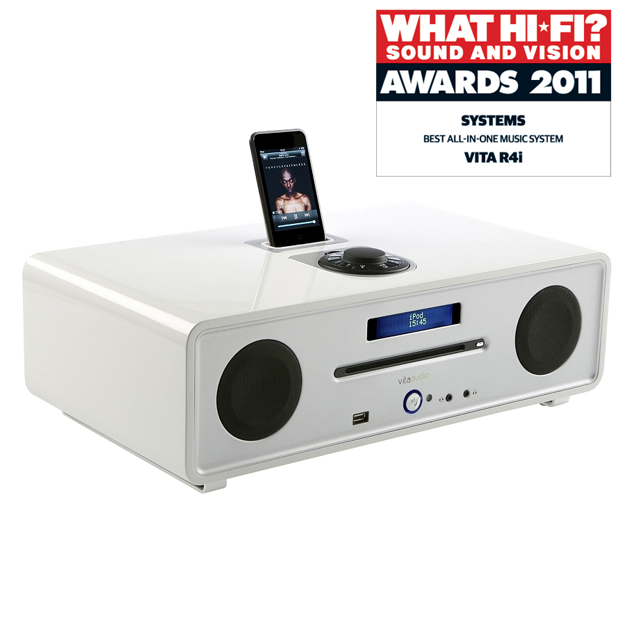 RUARK R4 Integrated Music System in Dream White Gloss Lacquer