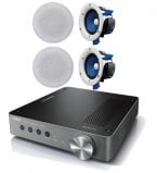 Yamaha WXA-50 Wireless Streaming Amplifier with 2 Pair of Yamaha NSIC400 In-Ceiling Speakers