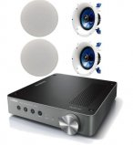 Yamaha WXA-50 Wireless Streaming Amplifier with 2 Pair of Yamaha NSIC600 In-Ceiling Speakers