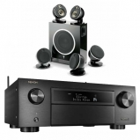 Denon AVCX6500H Black AV Receiver with Focal Dome Flax 5.1 & Sub Air in Black