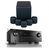 Denon AVRX2500H AV Receiver with Monitor Audio Mass 5.1 Gen 2 Surround Sound Speaker System in Midnight Black