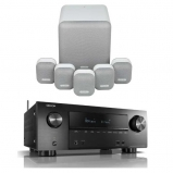 Denon AVRX2500H AV Receiver with Monitor Audio Mass 5.1 Gen 2 Surround Sound Speaker System in Mist White