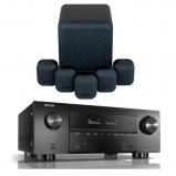 Denon AVRX3500H AV Receiver with Monitor Audio Mass 5.1 Gen 2 Surround Sound Speaker System in Midnight Black