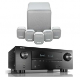 Denon AVRX3500H AV Receiver with Monitor Audio Mass 5.1 Gen 2 Surround Sound Speaker System in Mist White