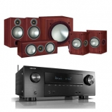 Denon AVRX2500H AV Receiver with Monitor Audio Bronze 2 AV 5.1 Speaker package Rosemah