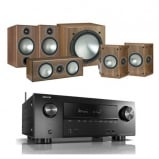 Denon AVRX2500H AV Receiver with Monitor Audio Bronze 2 AV 5.1 Speaker package Walnut