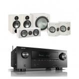 Denon AVRX2500H AV Receiver with Monitor Audio Bronze 2 AV 5.1 Speaker package White Ash