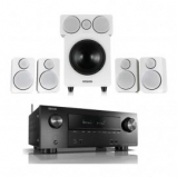 Denon AVRX2600H 7.2 Ch. 4K AV Receiver with Wharfedale Diamond DX-2 White Speaker Package
