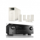 Denon AVRX2600H AV Receiver in Black with Bose Acoustimass 10 Series V White
