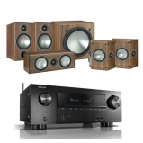 Denon AVRX2600H AV Receiver with Monitor Audio Bronze 2 AV 5.1 Speaker package Walnut