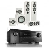 Denon AVRX2600H AV Receiver with Monitor Audio Bronze 5 AV 5.1 Speaker package White Ash