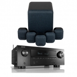 Denon AVRX2600H AV Receiver with Monitor Audio Mass 5.1 Gen 2 Surround Sound Speaker System in Midnight Black