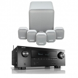Denon AVRX2600H AV Receiver with Monitor Audio Mass 5.1 Gen 2 Surround Sound Speaker System in Mist White