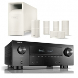 Denon AVRX3500H AV Receiver 3 Year Warranty in Black with Bose Acoustimass 10 Series V in White