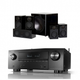 Denon AVRX3600H 9.2 Channel 4K Ultra HD AV Receiver with Monitor Audio Radius R90HT1 5 1 Speaker Package Black