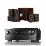Denon AVRX3600H 9.2 Channel 4K Ultra HD AV Receiver with Monitor Audio Radius R90HT1 5 1 Speaker Package Walnut