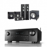 Denon AVRX3600H 9.2 Channel AV Receiver with Monitor Audio Bronze 5 AV 5.1 Speaker Package Black