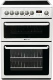Hotpoint HAE60PS 60cm Wide Freestanding Electric Cooker in Polar White