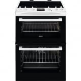 Zanussi ZCV 60cm Electric Double Oven Cooker with Ceramic Hob - front