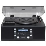 TEAC LPR500B Turntable System Phono Cassette CD Recorder Radio in Black