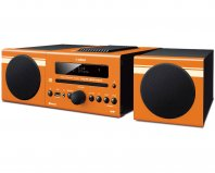 Yamaha MCR-B043D Desktop Micro Hi-Fi System in Orange front