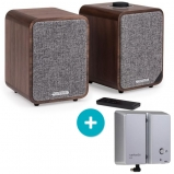 Ruark MR1 MK2 Active Bluetooth Speaker in Walnut with BackPack II Battery Pack