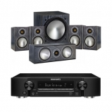 Marantz NR1509 Black 5.2 Channel AV Receiver with Monitor Audio Bronze 1 AV 5.1 Speaker package Black