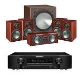 Marantz NR1509 Black 5.2 Channel AV Receiver with Monitor Audio Bronze 1 AV 5.1 Speaker package Rosemah