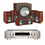 Marantz NR1509 Silver 5.2 Channel AV Receiver with Monitor Audio Bronze 1 AV 5.1 Speaker package Rosemah